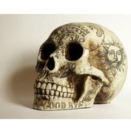 Pins & Bones Ouija Skull, Ouija Board Detailed Gothic Home Decor Skull