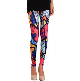 Bright Fancy Colors Tight Leggings