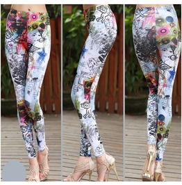 Fancy Print Tight Leggings