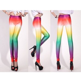 Rainbow Colors Tight Leggings
