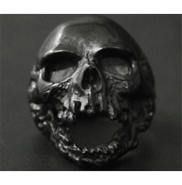 Dark Forest Stainless Steel Skull Ring Accessories