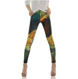 Colorful Print Tight Leggings