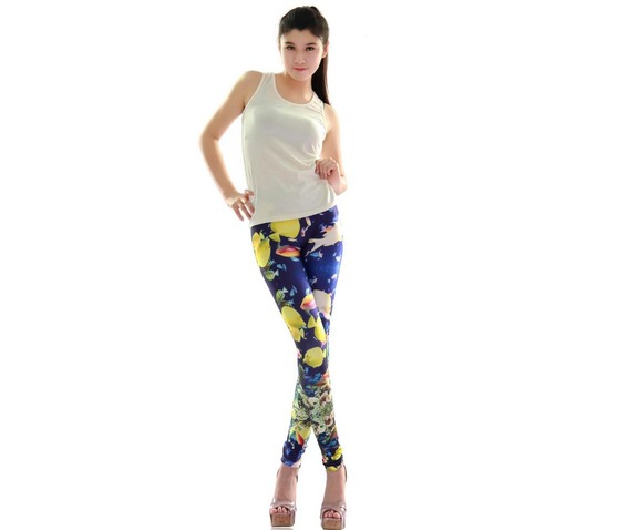 new_colorful_sea_gold_fish_print_tight_leggings_leggings_5.JPG