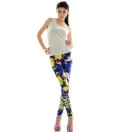 Colorful Sea Gold Fish Print Tight Leggings