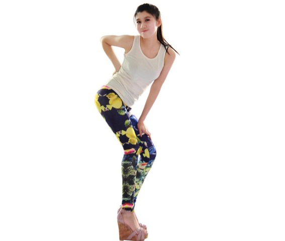 new_colorful_sea_gold_fish_print_tight_leggings_leggings_4.JPG