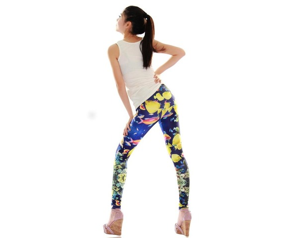 new_colorful_sea_gold_fish_print_tight_leggings_leggings_2.JPG