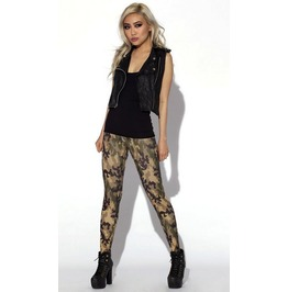 Army Camouflage Print Tight Leggings