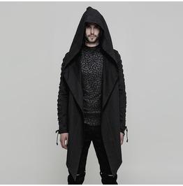 Gothic long sleeve mens hooded coat punk rave rebelsmarket