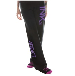 Ink Women's Black Sweatpants Purple