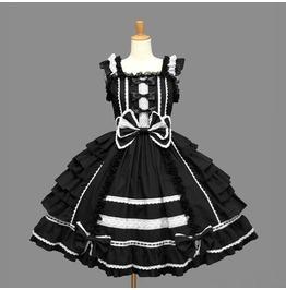 Dark Forest Gothic Punk Lolita Cosplay Costume Womens Dress