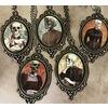 Handmade victorian skeleton cameo pendant necklace rebelsmarket