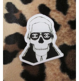 Zombie Karl Lagerfeld Acrylic Hipster Pin Jewelry Brooch