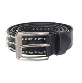 Round Rivet Leather Waistbelt