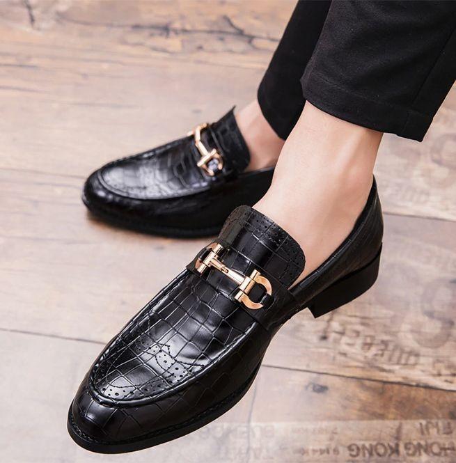 Men's Handmade Split Leather Pointed