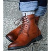 Mens handmade fashionable pointed toe ankle boots rebelsmarket