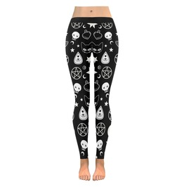 Witch Leggings Witch Pant Pentagram Goth Leggings Wicca Clothing Ouija