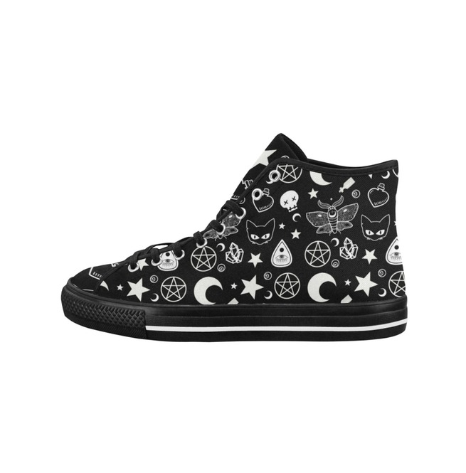 5ce298b9c4ee6 Shoes Witch Shoes Wicca Canvas Shoes Pentagram Ouija Board