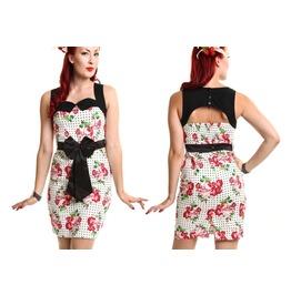 Poizen Rockabella Ophelia Dress Rockabilly Goth Prom Roses Sale