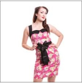 Rockabilly Dress Pink Ophelia Rockabella Summer Dress