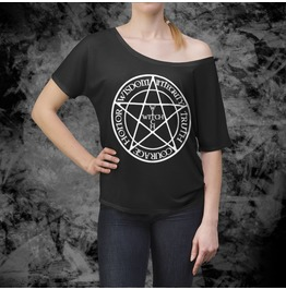Witch Wicca Slouchy Top Witch Relaxed Shirt Pentagram Goth Shirt