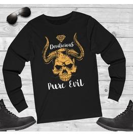Satanic Pure Evil Long Sleeve Shirt T Shirt Occult Clothing Lucifer Goat