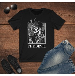The Devil T Shirt Satanic Shirt Lucifer Clothing Gothic Shirt