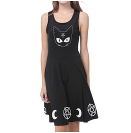 af0782697c0f5 Goth Dress Black Dress Gothic Dress Witch Occult Wiccan Fit And Flare Dress
