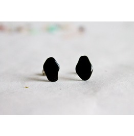 Black Obsidian Earrings Stud Earrings