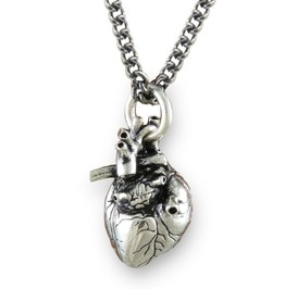 Gothic Anatomical Heart Necklace