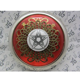 Compact Mirror Pentagram Red Comes Protective Pouch