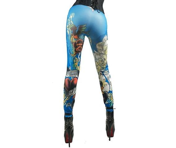 crazy_blue_tattoo_design_leggings_one_size_leggings_2.JPG