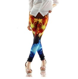Bright Colorful Print Tight Leggings