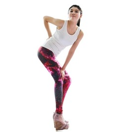 Colorful Deep Space Print Tight Leggings