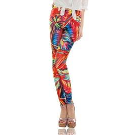 Bright Fancy Color Print Tight Leggings