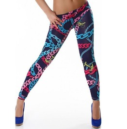 Multi Color Chain Links Tight Leggings