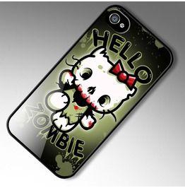 Phone 4 Case Hello Zombie Hello Kitty Parody