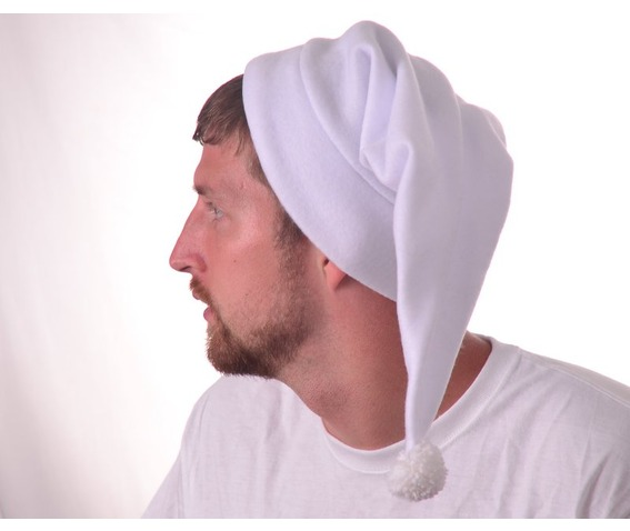 stocking_cap_long_white_beanie_hat_fleece_pompom_hats_caps_3.JPG