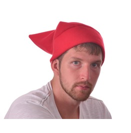 Red Pointed Elf Hat Warm Fleece Winter Cosplay Cap