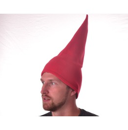 Tall Red Gnome Hat Conical Pointed Hat Cone Shaped Cap