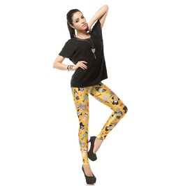 Cute Colorful Cartoon Print Tight Leggings