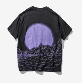 Oversize purple wave t shirt camiseta wh396 rebelsmarket