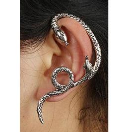 Single Double Snake Head Earcuff