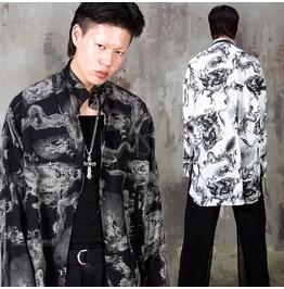 Oriental dragon mandarin collar long shirts 372 rebelsmarket