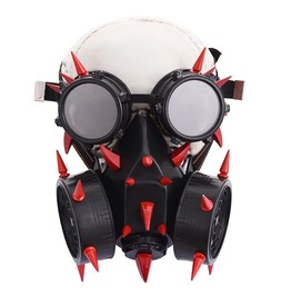 Halloween Burning Man Dust Mask Spiked Goggles