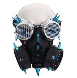 Steampunk Halloween Burning Man Gas Mask Goggles