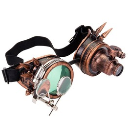 Steampunk Vintage Retro Halloween Round Shaped Magnifing Eye Goggles