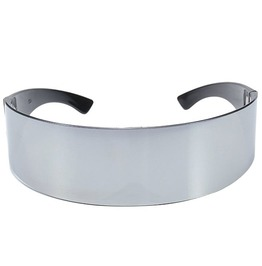 Gothic Punk Cybergoth Halloween Oval Shaped Wrap Around Futuristic Costume Sunglasses