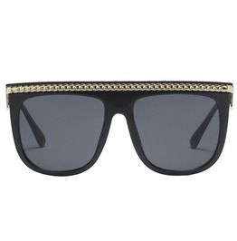 Steampunk Chain Square Design Square Sunglasses
