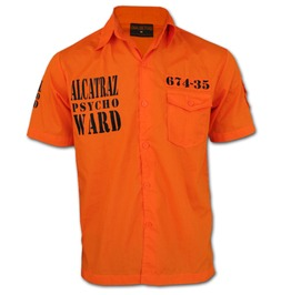 Chaquetero's Alcatraz Psycho Ward Prison Break Jailwear Workshirt Worker Shirt Orange Halloween Outfit
