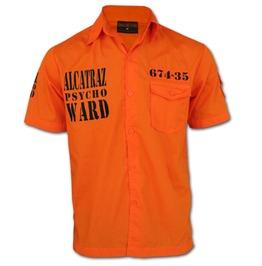 Chaquetero's Alcatraz Psycho Ward Prison Break Jailwear Workshirt Worker Shirt Orange Halloween Outfit